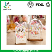 Romantic Wedding Gift Bag Elegant Luxury Decoration Flower Engagement Laser Cut Party Sweet Favors Wedding Paper Candy Box