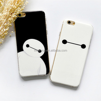 Soft Silicon TPU simple custom black and white BayMax printing phone cases for iPhone 5 5S