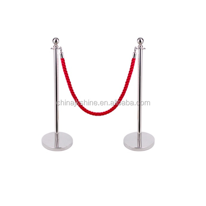 Church Used Crowd Control Stackable Sponge Cording off Rope Stanchion Queue Barrier Stand With Cheap Price