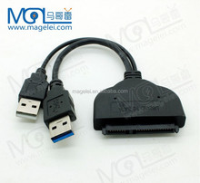USB 3.0 to SATA 22Pin Adapter Cable for 2.5 inch HDD Hard Disk Drive with usb 2.0 power cable