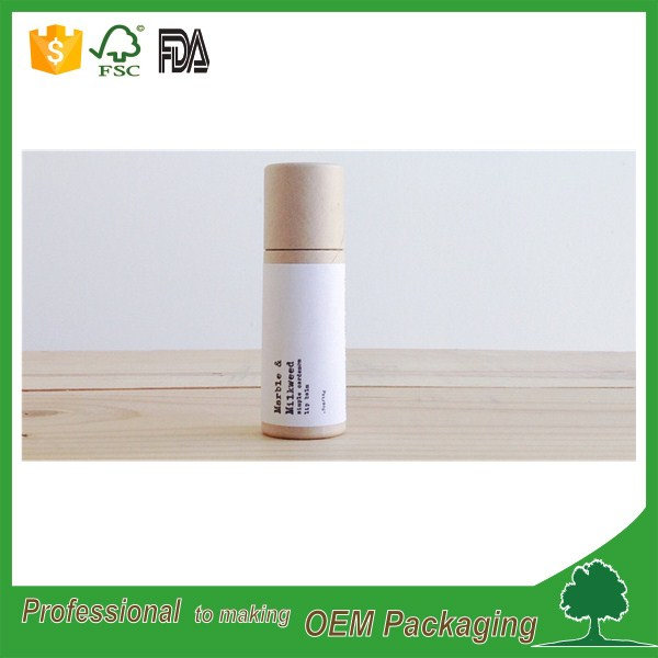 small paper tube for lip bam/eco friendly lip balm tubes push up function kraft paper tube free sample supplier