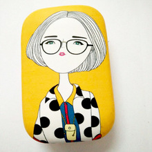 Glasses box cartoon, hot selling contact lens box, wholesale order