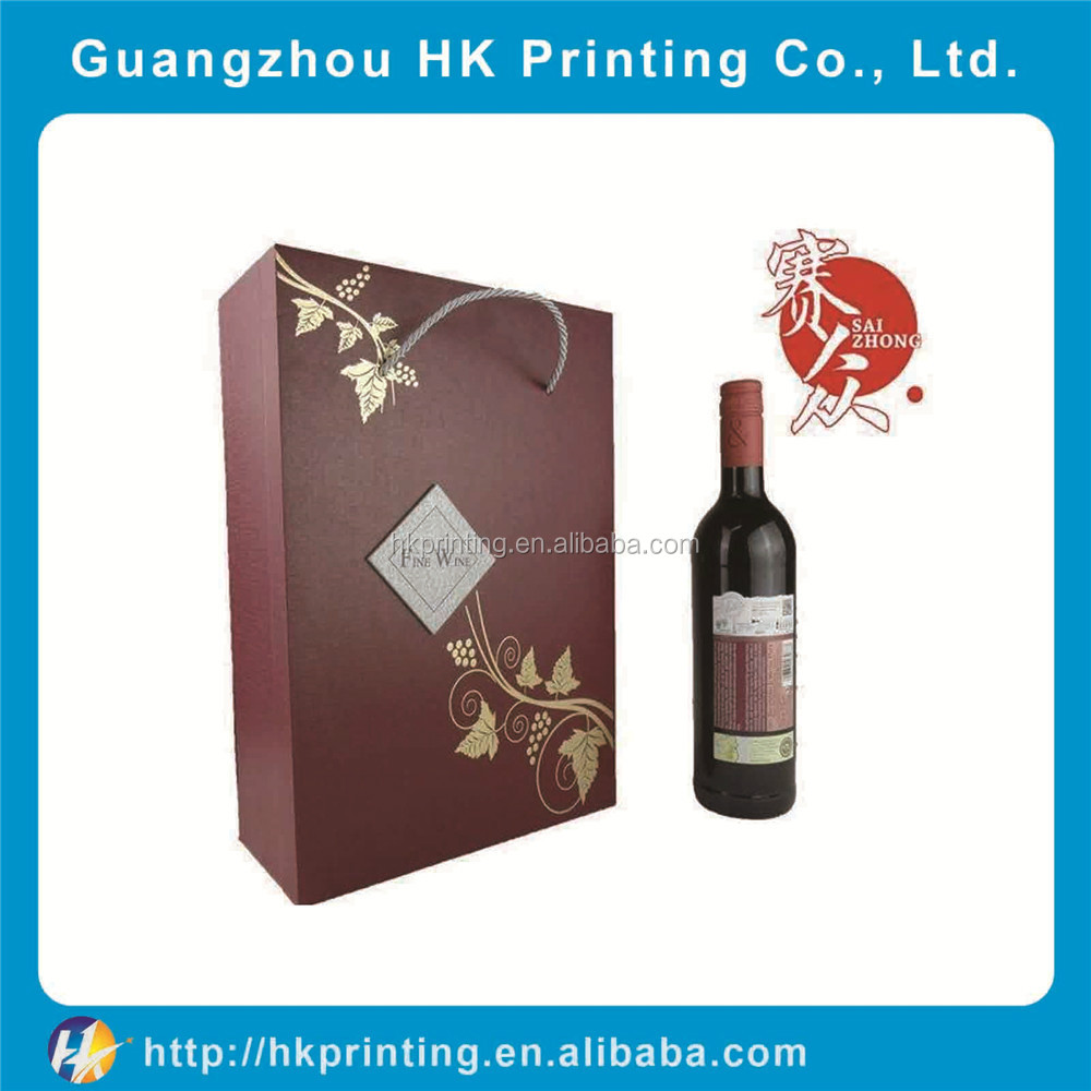 customized cardboard high quality paper box for <strong>wine</strong>