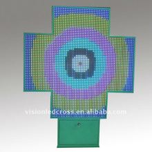 Outdoor Pharmacy Cross display, Full Color LED Sign, 130*130cm
