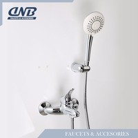 Sagetta Bathroom Water Saving Salon Brass Bath Set Thermostatic Bath Shower Mixer Prices