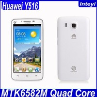 Original Huawei Y516 4.5 inch MTK6589 Quad Core Mobile Phone Android 4.2 4GB ROM GPS Russian 3G Huawei mobile