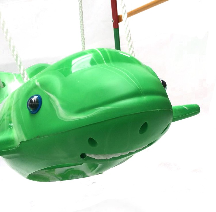 Fish shape cute PP plastic children hanging garden baby swing