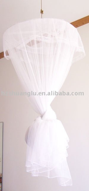 decorative conical 100%polyester bed canopy mosquito net