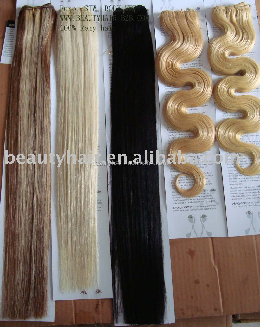 Double Cheap Wholesale fashion 100% remy human hair silky weft extension