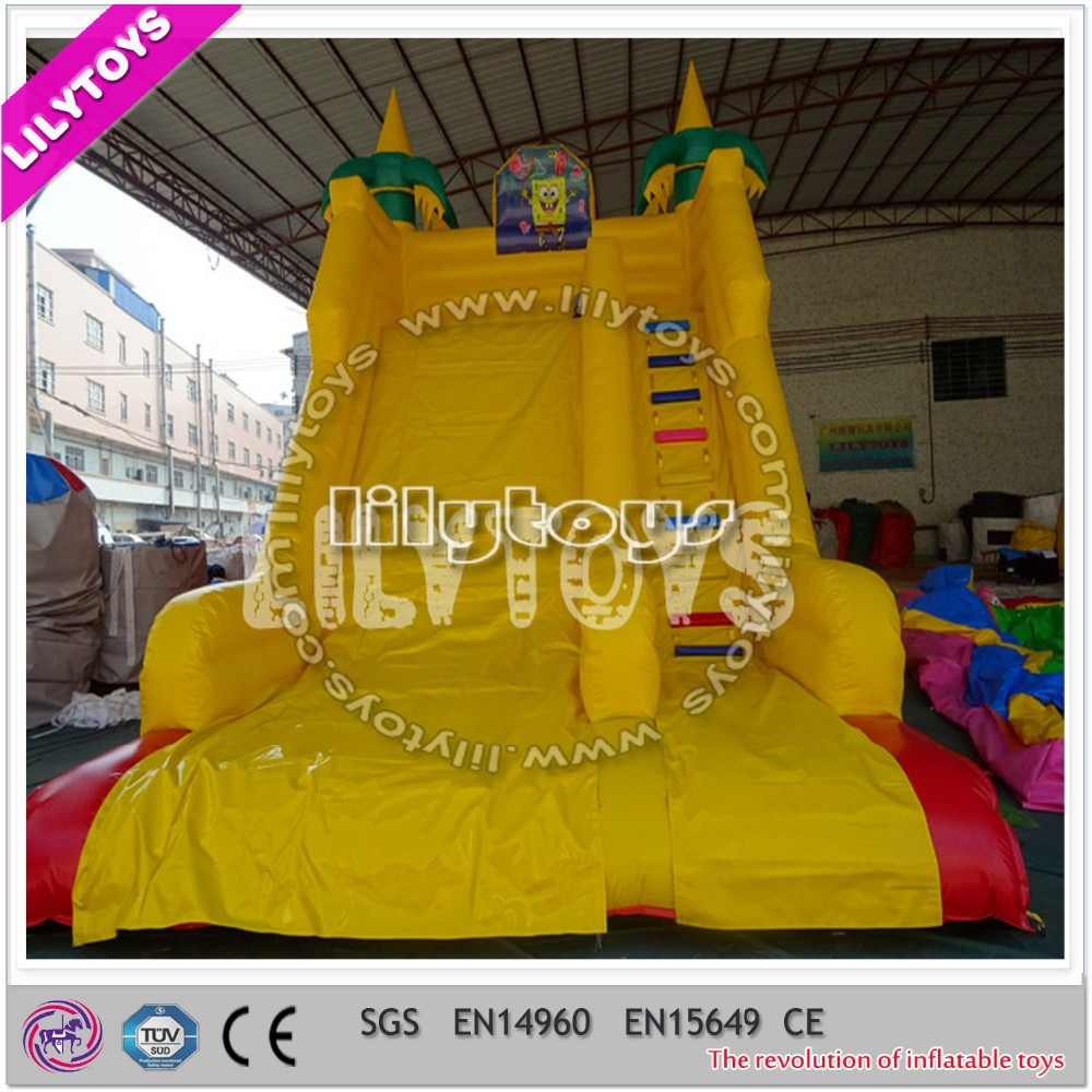 Commercial grade inflatable comercial slide, airplane inflatable slide