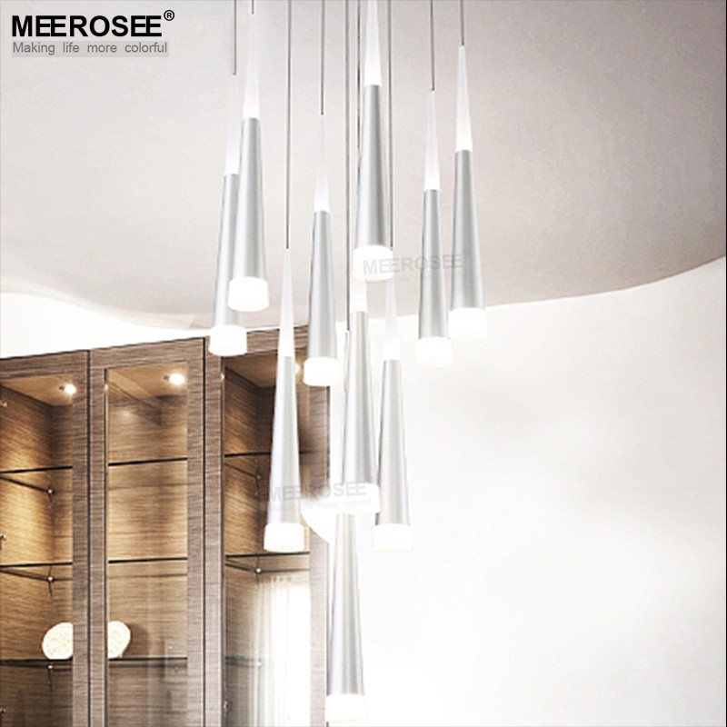 Multi Pendant Light Fixtures LED Modern Hanging Cone Pendant Light MD83064 L10