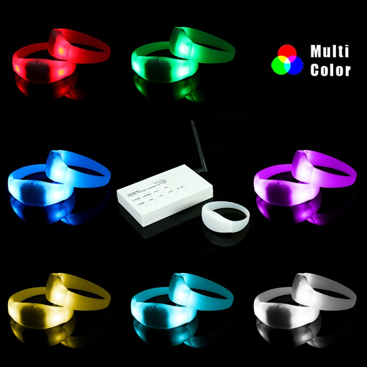 Creative electronic Bracelet LED wireless remote control emitting RGB light LED Bracelet LED Wristband