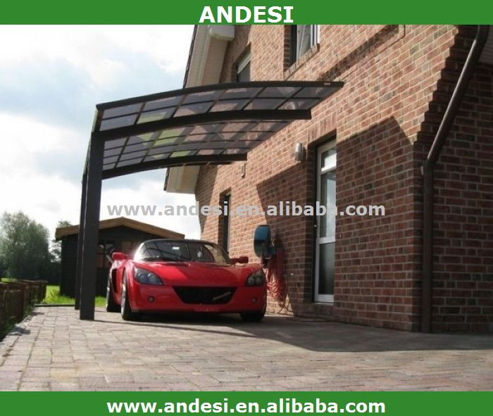 aluminium carport mit kunststoff bogendach garage dach. Black Bedroom Furniture Sets. Home Design Ideas