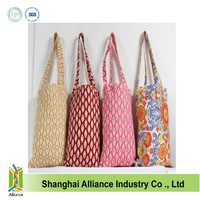 Fashion custom printed canvas tote bags for girl ALD485