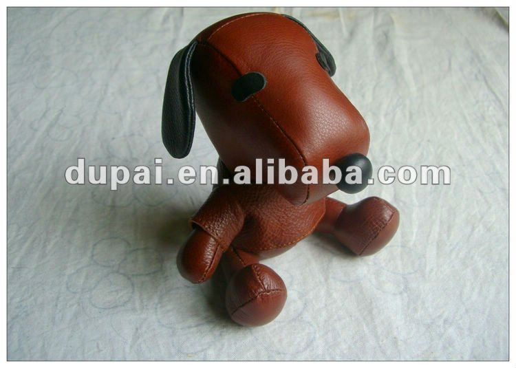 2012 cheap cute handmade leather toy dog for children