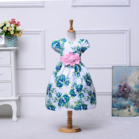 New model girl dress gown high quality flower girl dress clothes children girl dress gown