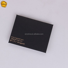 Sinicline factory hot sale custom gift packaging envelopes gold foil black square envelope