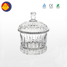 Wholesale cheap price wedding crystal candy glass jar