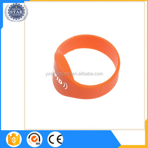 printable two chips dual frequency passive nfc/rfid silicone wrist band