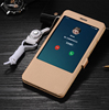 Custom Wholesale Window Leather Case for xiaomi redmi note4x Smart sleep Wallet Phone Case for redmi note 4x Phone Wallet Case