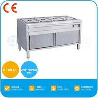 Bain Marie Cooking Equipment- With Cabinet 6 x GN 1/1, S/S, CE, TT-WE1202C