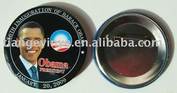 barack obama tole badges buy tin badge badge tin button product on. Black Bedroom Furniture Sets. Home Design Ideas