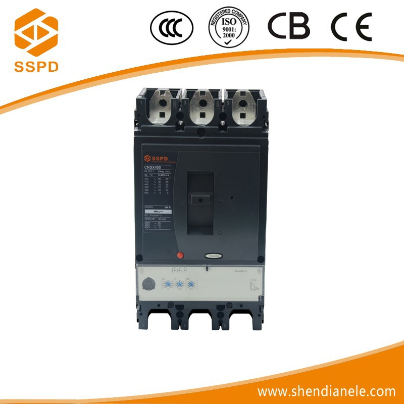 NSX 400a 3p mccb easypact circuit breaker with electrical handle switch