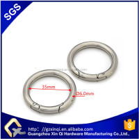 Bag Spring O ring in leather handbag hardware