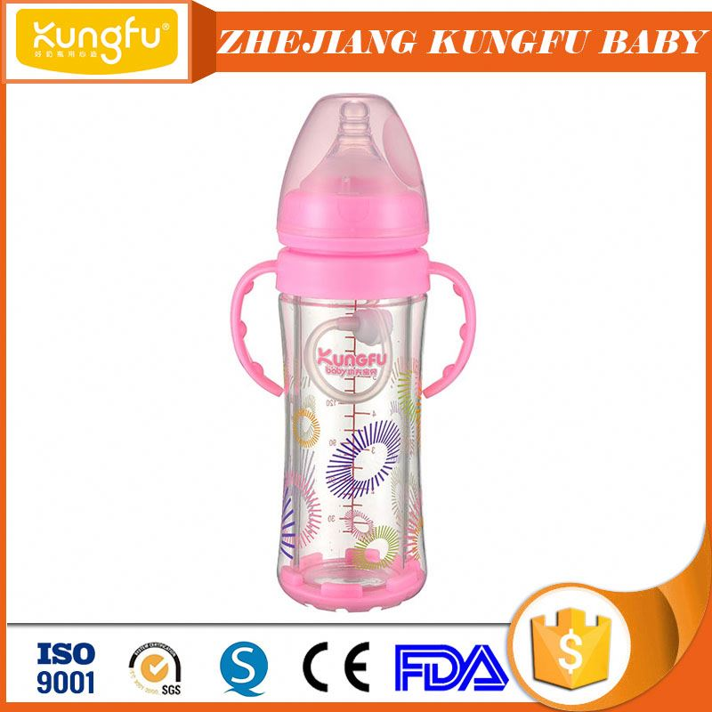 Professional baby feeding products Zhejiang Factory of glass bottle Jinhua industrial feeders glass bottle