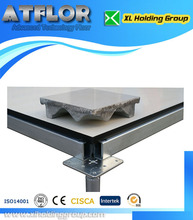 data center HPL cementitious infill steel raised floor and flat head pedestal antistatic 1.2mm