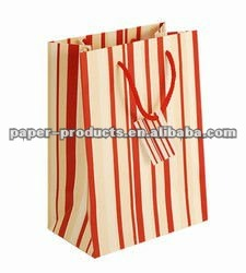pink stripes gift bag/ plaid paper gift bag/ paper purse gift bags