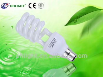 Global sales 220V T4 24w half spiral energy saver lamp made in China