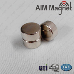 Nickel plated n42 strong ndfeb magnet manufactures