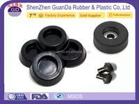 "Free samples Customize 1 3/4 inch rubber feet / 18mm rubber feet covers fit over a 3/8"" steel rod / 2 inch rubber feet"