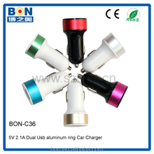 5v 2a dual usb universal car charger 9 volt accessories charger adaptor