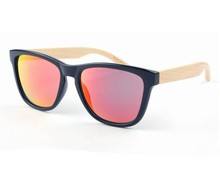 Wholesale bamboo wood sunglasses in pilot style W182