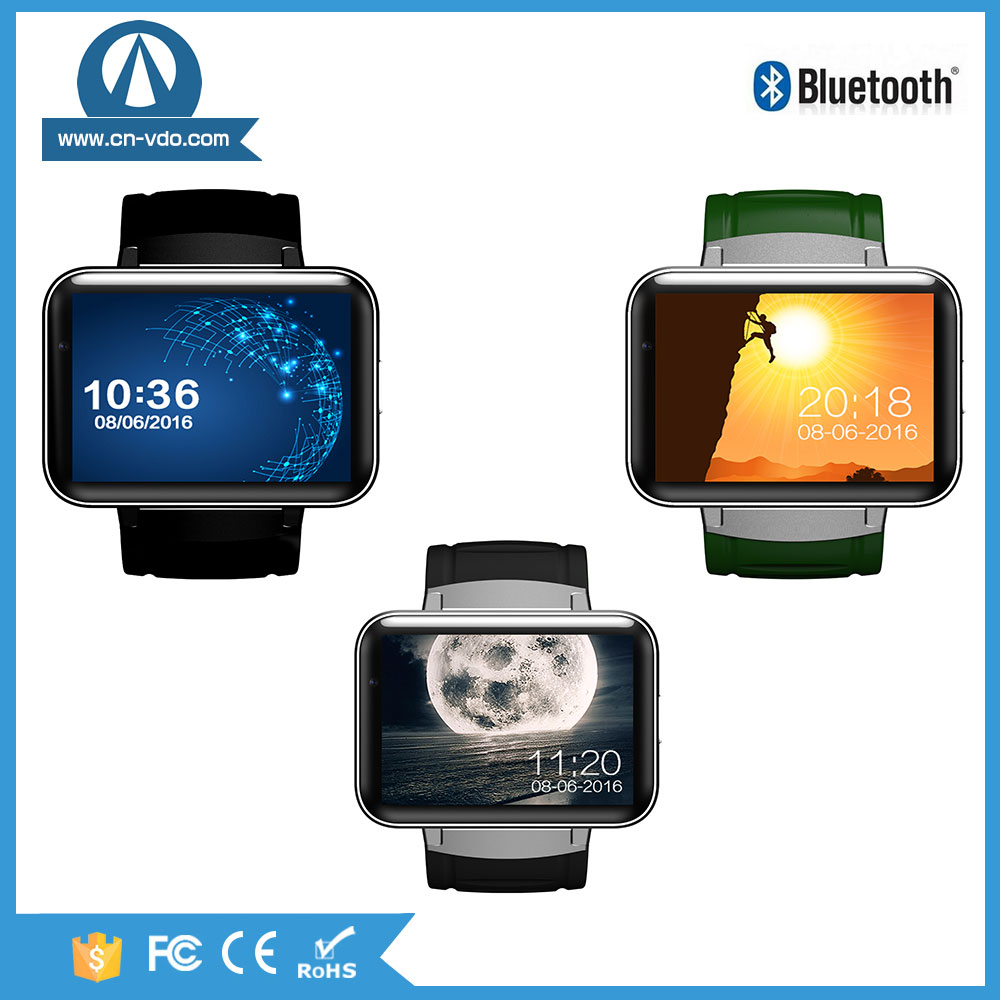 3G network 4G memory Mtk6572 Quad Core Android Smart Watch Gps Wifi DM98 latest wrist watch mobile phone