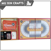 New products racing style raceway Board Game with wooden box