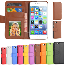 Fashion Hit Color Magnetic Flip PU Leather Phone Case For Samsung Galaxy S3/S4/S7 Card Slot Wallet Holster Cover
