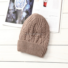 Winter hat knitted hat thick warm wool hat cap hat outdoor warm ear muffs