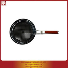 non-stick carbon steel bbq grill pan with handle