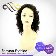 Lowest Cost Can Be Dyed Lace Human Curly Top Silk Fanny Wo Wigs
