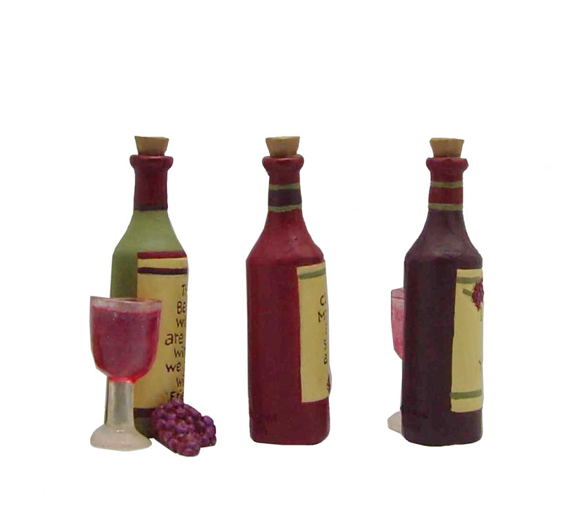 Nice resin bar accessories wine bottle decoration