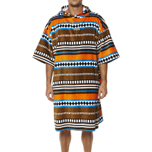 100% cotton velour printed fashionable Adult change poncho towel reactive printed adult poncho towel