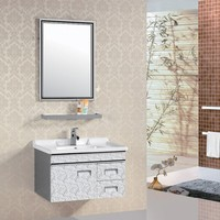 AJL-8107 China Suppliers Whirlpool White cheap bathroom vanity cheap wooden cabinet