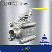 Modentic | 1/2 inch dn15 api 607 fire safe npt alloy 20 / ss316 cf8m stainless steel high pressure 3pc ball valve