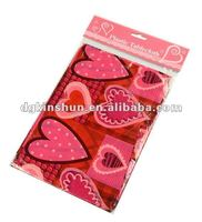 new design valentines Plastic table cover disposable tablecloth