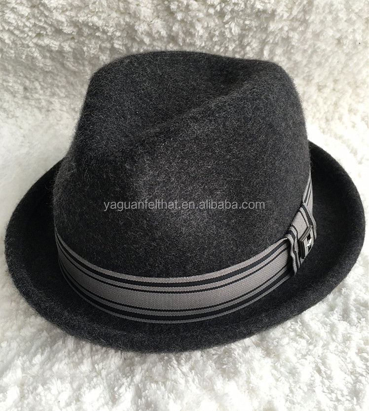 Fashion flannel fedora hat. European style felt hats