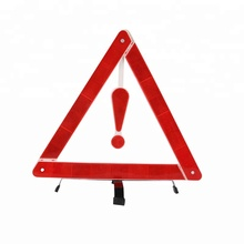 Emergency Roadside Folding Reflector Warning Triangle With Stand