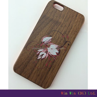 Most popular strong packing wood cell phone case cover for iphone 6 for promotion